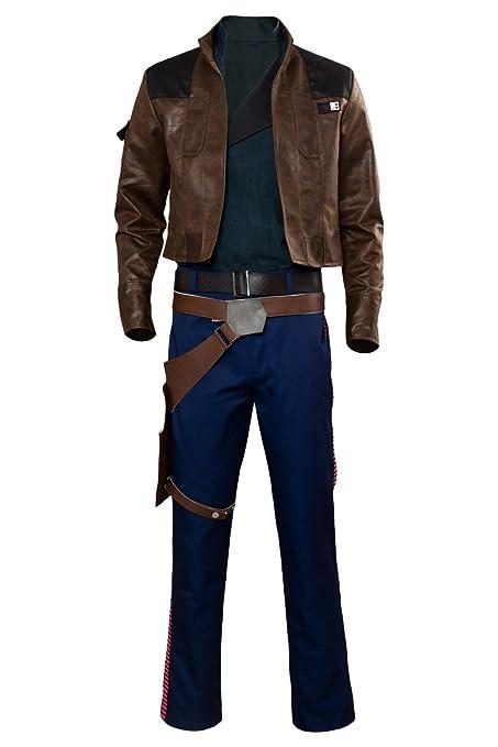 RedJade Solo: A Star Wars Story Han Solo Outfit Chaqueta Suit Traje de Cosplay Disfraz Hombres M