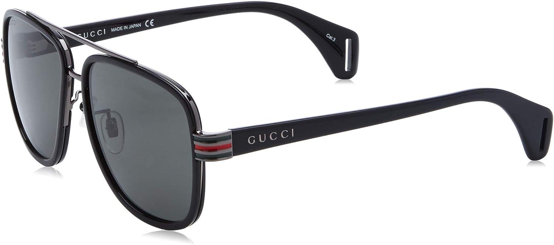 Amazon.com: Gucci Sunglasses GG 0448 S- 001 Black/Grey: Clothing