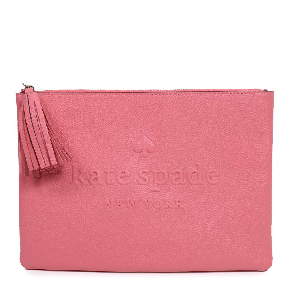 Kate Spade Clutch Larchmont Avenue Logo Coral Tassel