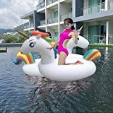 Giant Inflatable Unicorn Pool Float, Water Toys, Children Adults Swimming Pool Inflatable Toys (78in*35in*39in)