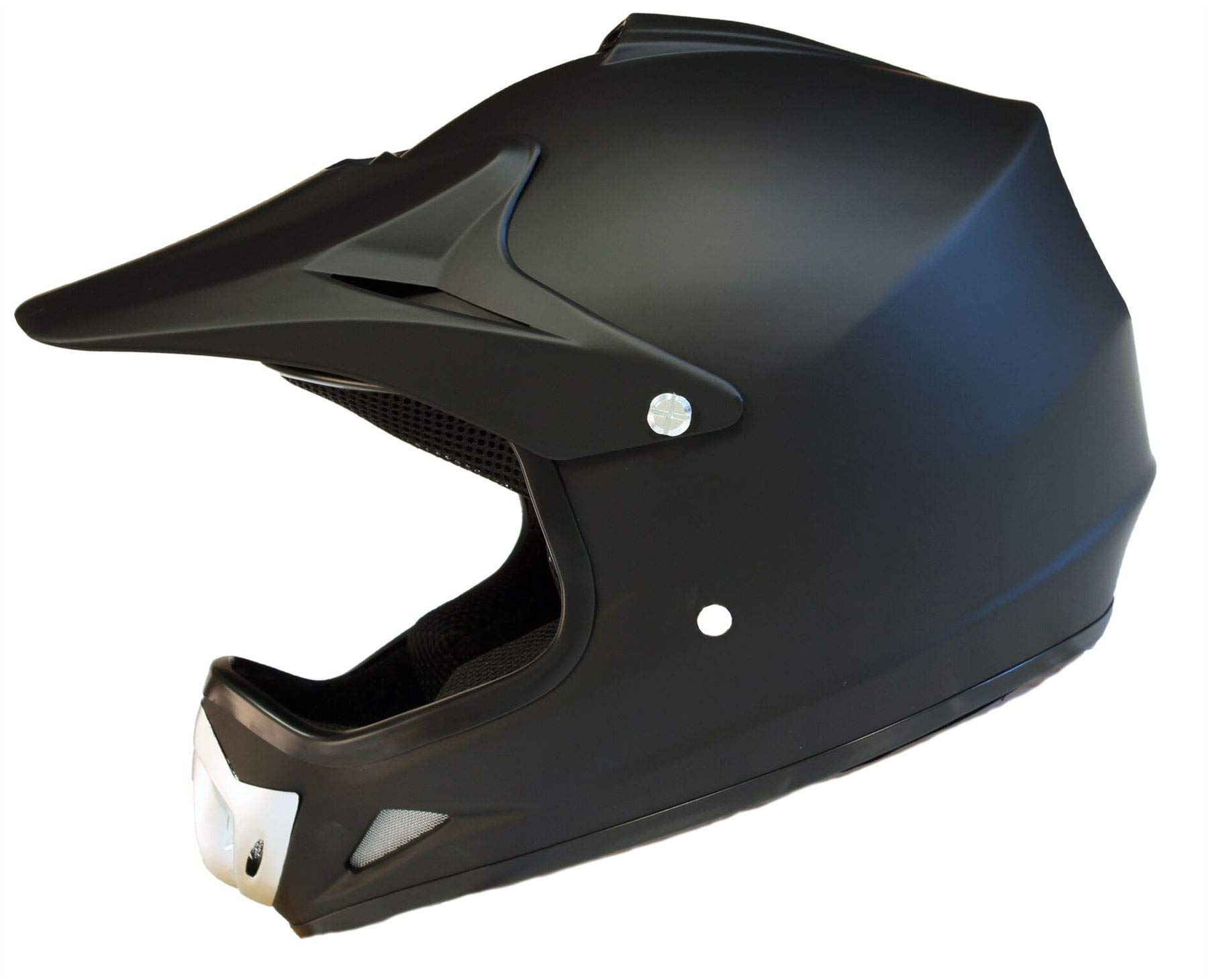 Medium Qtech Childrens KIDS MOTOCROSS MX Style Helmet BMX Quad Bike Quasar Matt Black