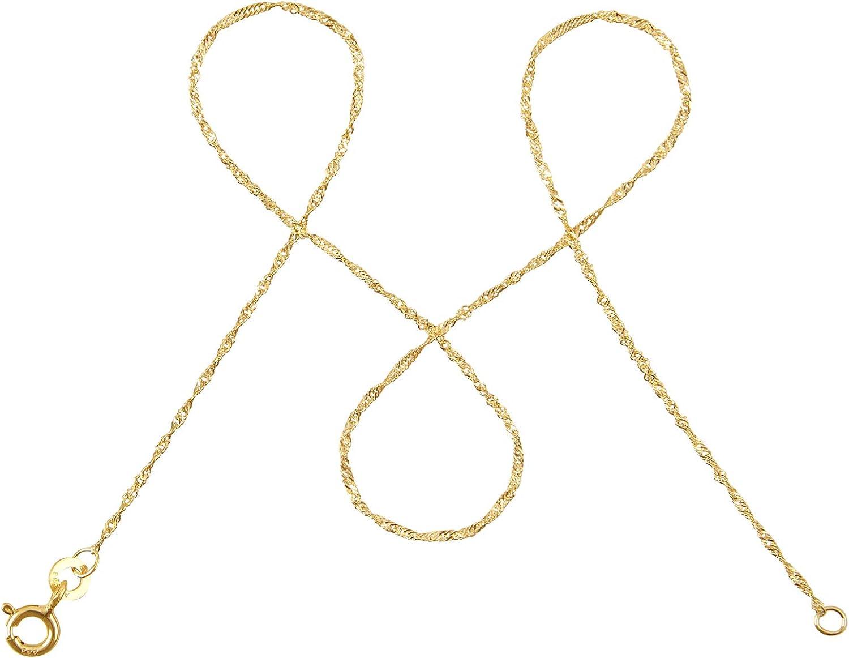 modabilé Damen Singapurkette aus 333er Gold (45cm I 1mm