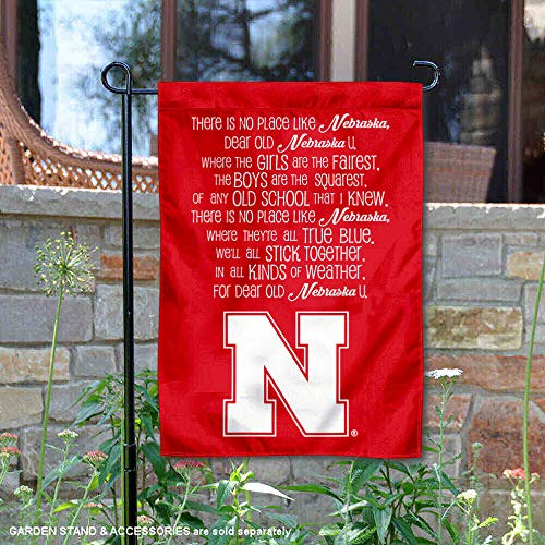 College Flags and Banners Co. Nebraska Cornhuskers Fight Song Garden Flag