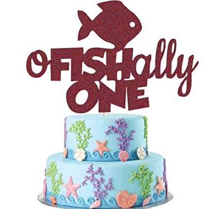Fabulous O Fish Ally One Cake Topper Gone Fishing First Birthday Cake Personalised Birthday Cards Epsylily Jamesorg