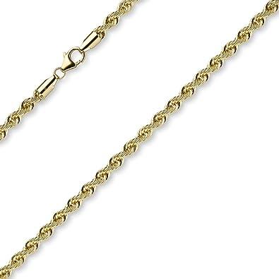 4 mm Bracelet cordon chaîne bracelet chaîne en or jaune 585 or brillant 21  cm Bracelet 02c0f2a28701