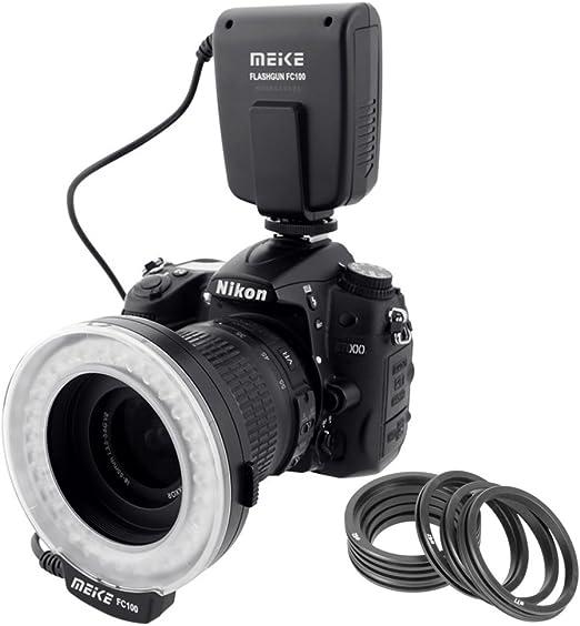 Meike – LED Macro anillo de luz de flash para cámara réflex ...