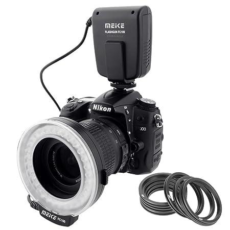 Meike - LED Macro Anillo de luz de Flash para cámara réflex ...