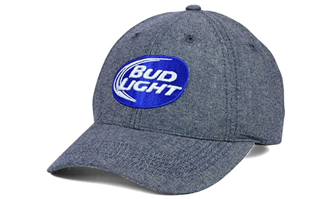 6a41382cd35 Image Unavailable. Image not available for. Color  Budweiser Bud Light Beer  Men s Adjustable Strapback Hat Cap ...