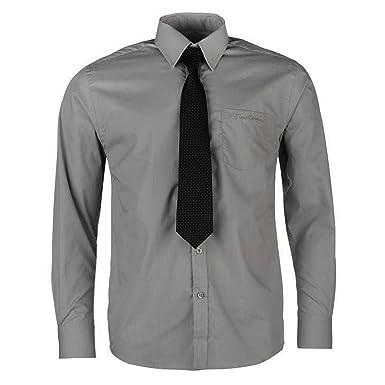 Chemise Avec Cravate Pierre Cardin Pour Homme Neuve Blanche Bleue Ou