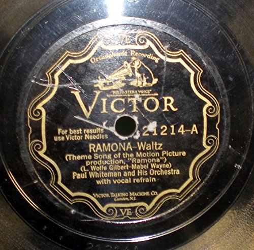 78 RPM, Paul Whiteman & Bix Beiderbecke, Romana, Victor VE Scroll, 1928 ()