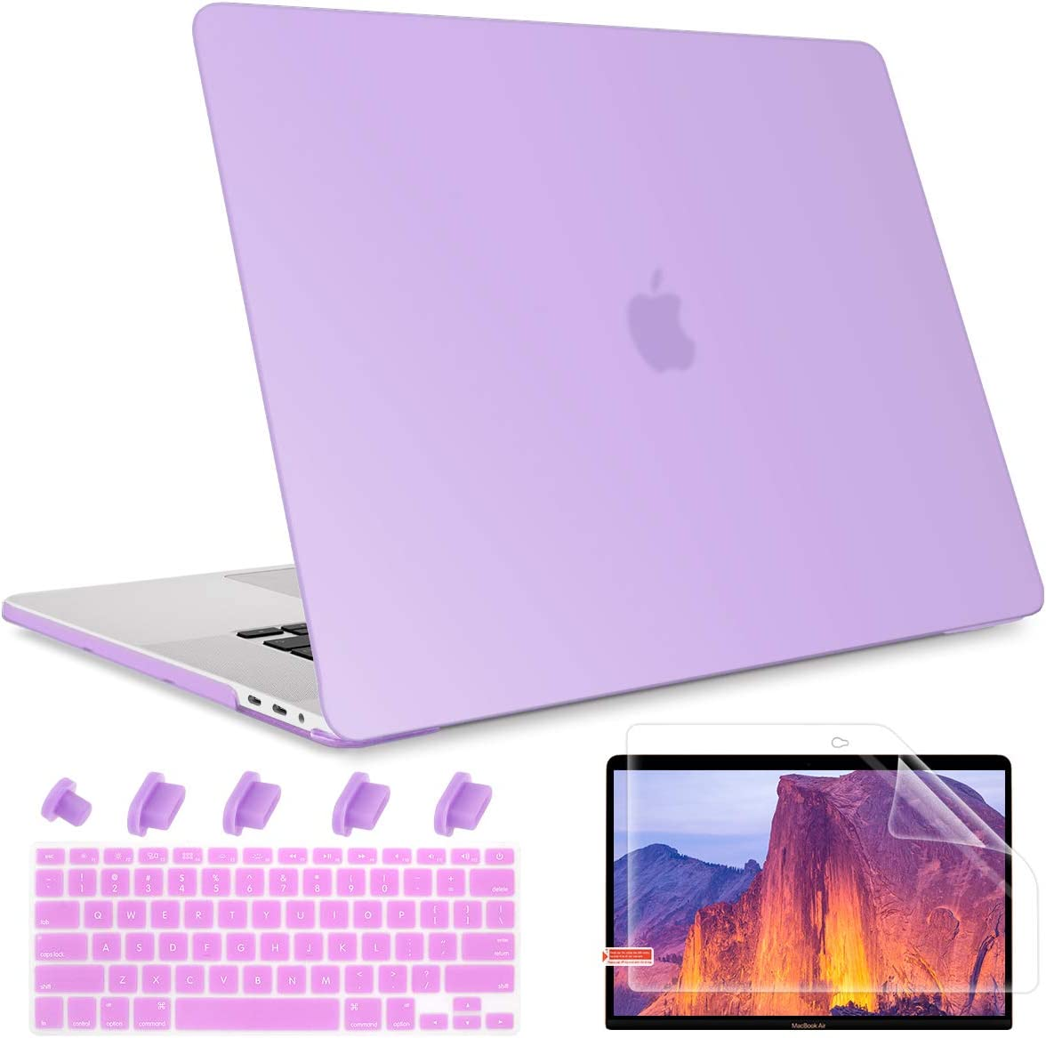 May Chen Older MacBook Air 13 inch Case (2010-2017 Release Older Version), Frosted Rubberized Matte See Through Plastic Hard Shell Case Cover for MacBook Air 13.3 Model A1369/A1466, Purple