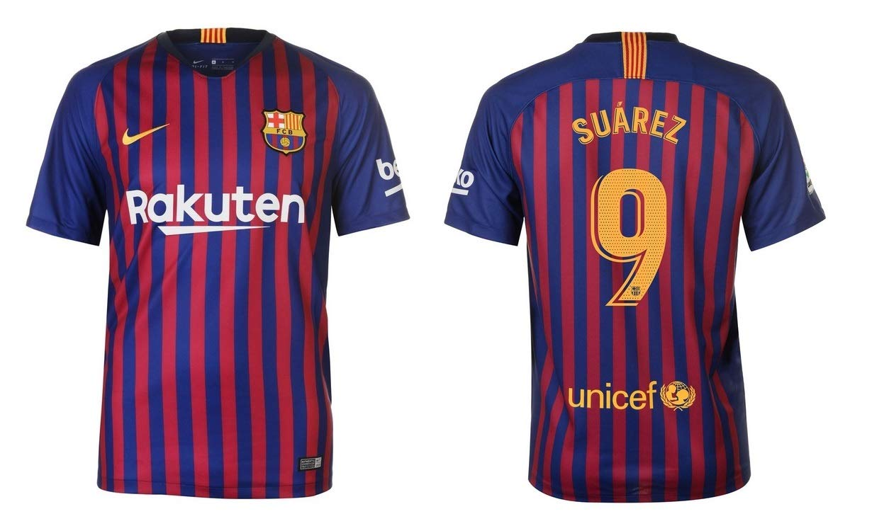 F.C. Barcelona Trikot Kinder 2018-2019 Home - Suarez 9