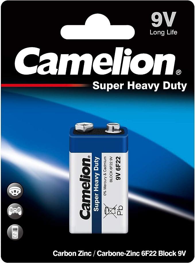 Camelion 10200122 6f22 9 V Super Heavy Duty Battery Elektronik