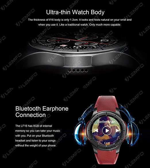LEMFO LF16 - Reloj inteligente Android 5.1 3G / WIFI con ...