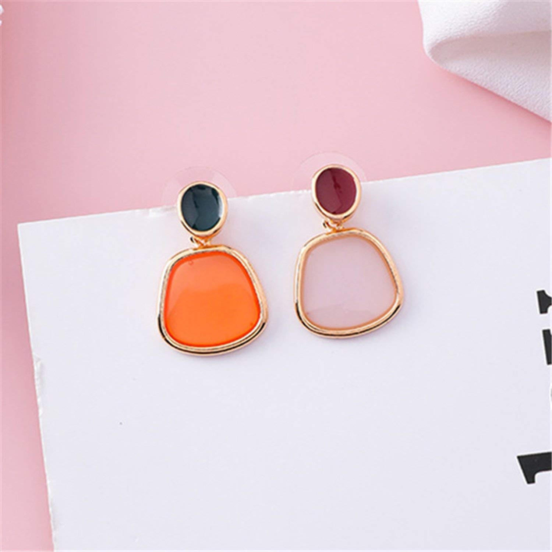 Earrings Women Color Acrylic Pearl Stud Earring Transparent Candy Color Heart Stud Earrings