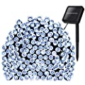 Outdoor Lights 72ft 200 LED ,Solar String Fairy Lights for outdoor ,Indoor Holiday Decorations ,Outside Fairy Starry lights for Garden, Patio, Party, Waterproof(Cool White) from ADDLON