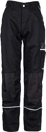 Tmg Pantalones De Trabajo Para Hombres Negro Xs 7xl Pantalones De Trabajo Resistentes Y Elasticos Con Multibolsillos Y Reflectores Artesanos Electricistas Mecanicos 52 Amazon Es Ropa Y Accesorios