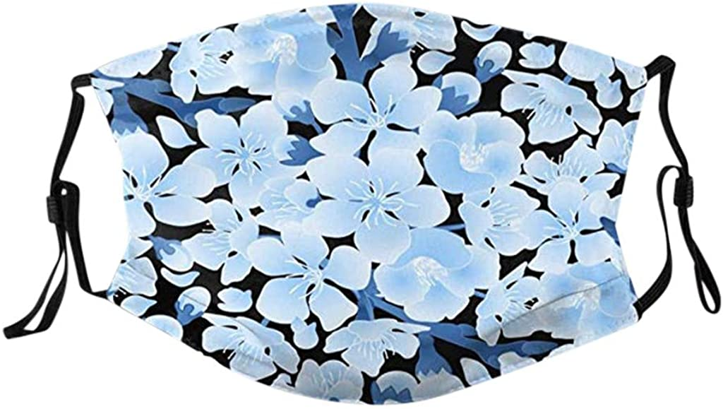SIOPEW Bandanas For Men And Women Unisex Protection Fashion Butterfly Printed Adjustable Strap Cotton Fabric Breathable Anti Dust Outdoors Sports