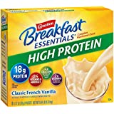 Carnation Breakfast Essentials High Protein Powder, Classic French Vanilla, 8-Count Box of 1.27 oz Packets, 6 Pack