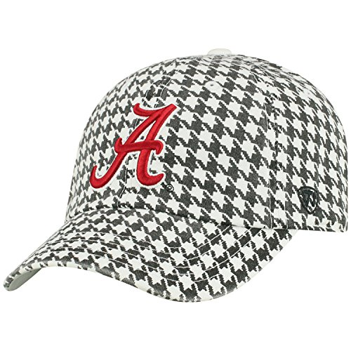 Top of the World NCAA Mens College Town Crew Adjustable Cotton Crew Hat Cap (Alabama Crimson Tide-Houndstooth, ()