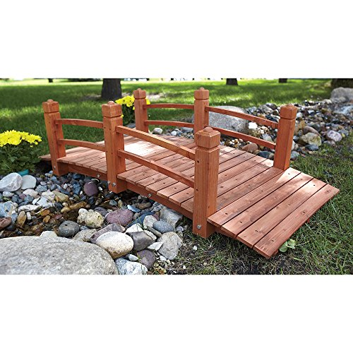 5-Ft. Long Wooden Decorative Garden Bridge by Consumer Sales Network (Image #8)