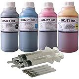 ND R@ 4 Bottles 250ml Refill Ink with 4 Refill Syringes for T502 Expression ET-2700 ET-2750 ET-3700 Workforce ET-3750 ET-4750 EcoTank Printer