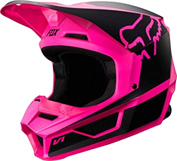 2019 Fox Racing V1 Przm Off-Road Motorcycle Helmet - Black/Pink / Large