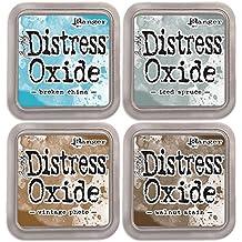 SPECIAL BUNDLE:Tim Holtz Distress Oxide Ink Pads-Broken+Iced+Vintage+Walnut (D3)