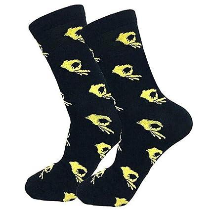 Círculo juego Meme Calcetines de vestir Calcetines divertidos Calcetines locos Calcetines de algodón ocasionales para hombres