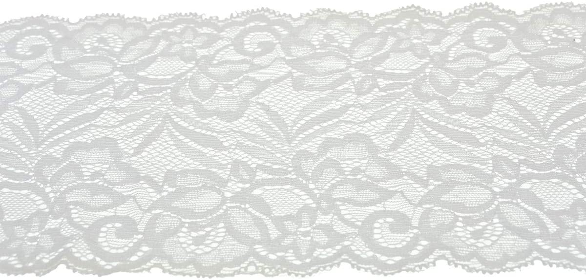 """Black//Grey Vintage Soft Stretch Scalloped Lace 6/""""//15cm  Craft Table Runner"""