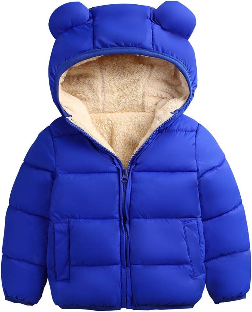 ARTMINE Baby Boys Girls Fleeced Down Alternative Jacket with Hood, 12M - 5Y
