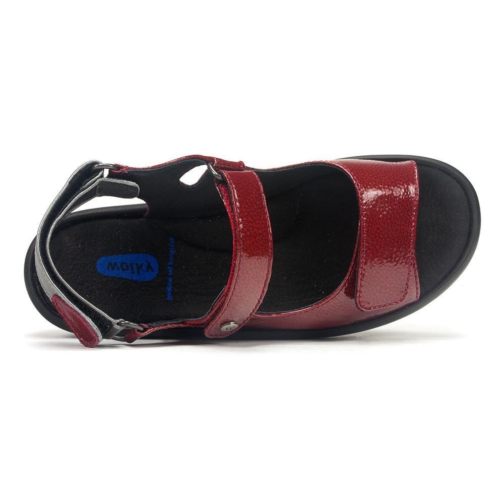 Wolky Comfort Jewel B01LXM7ZGP 40 M EU / 8.5-9 B(M) US Red Patent Metal
