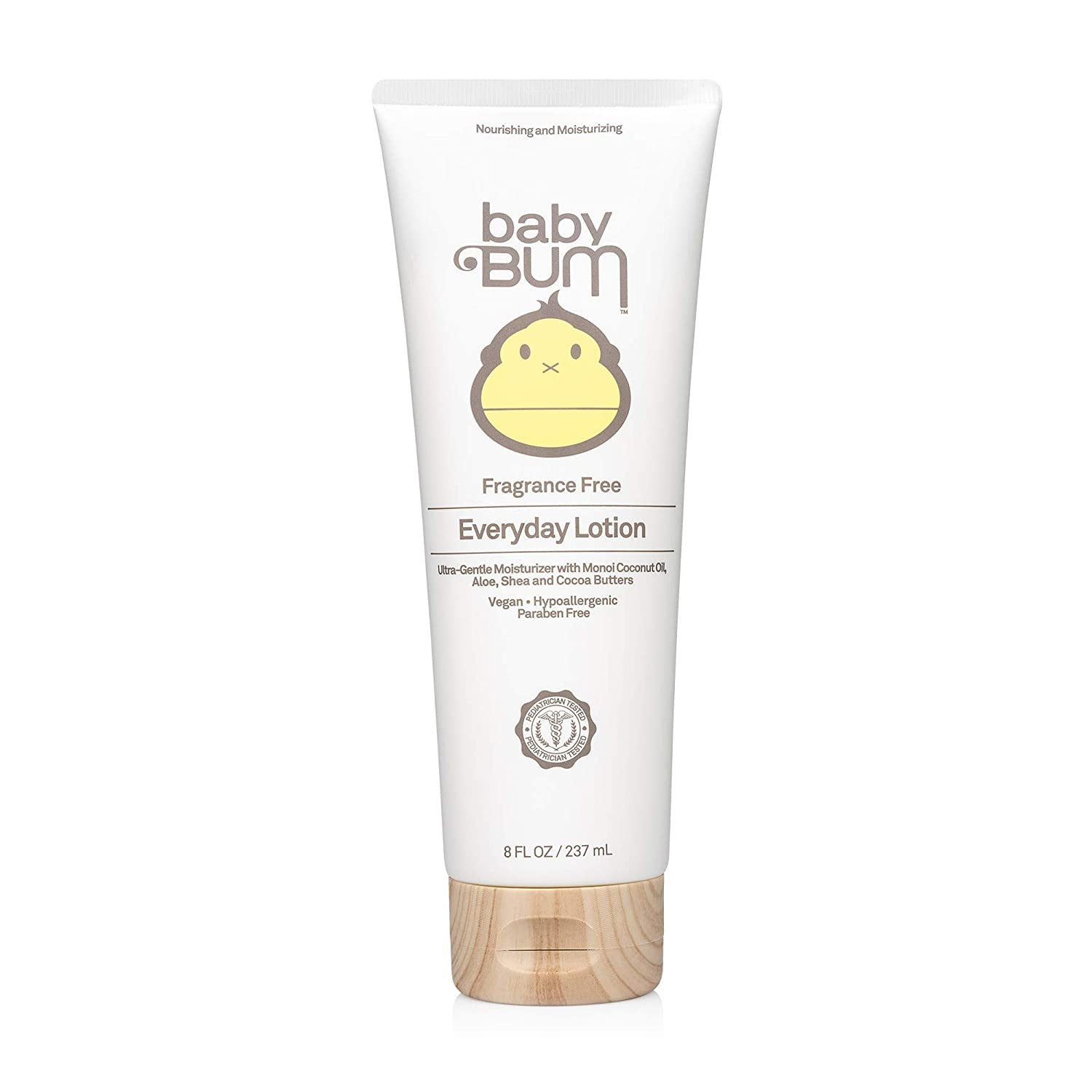 Baby Bum Everyday Lotion | Moisturizing Baby Body Lotion for Sensitive Skin with Shea and Cocoa Butter| Fragrance Free| Gluten Free and Vegan | 8 FL OZ
