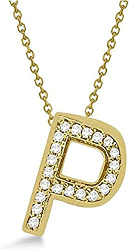 Initial Personalized Pendant Gemhub Custom Tilted Diamond Block Letter Initial Necklace 14k Rose Gold