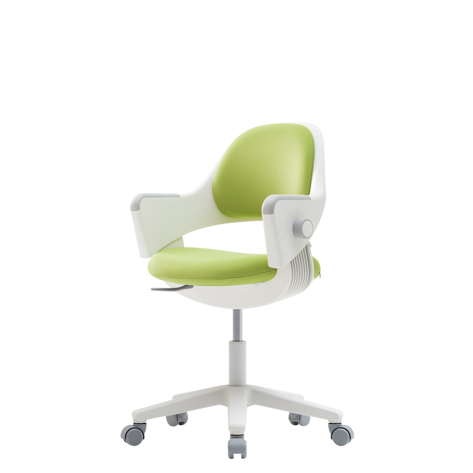 sidiz NEW Ringo Kids Desk Chair Growing Adjustable [Rotating type] (Fabric_Green_F567 + Footrest)
