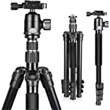 UBeesize 61.4-inch Camera Tripod, 12kg/26.4lb Load Aluminum Travel Tripod Stand, Compact and Lightweight Video Tripod for DSL
