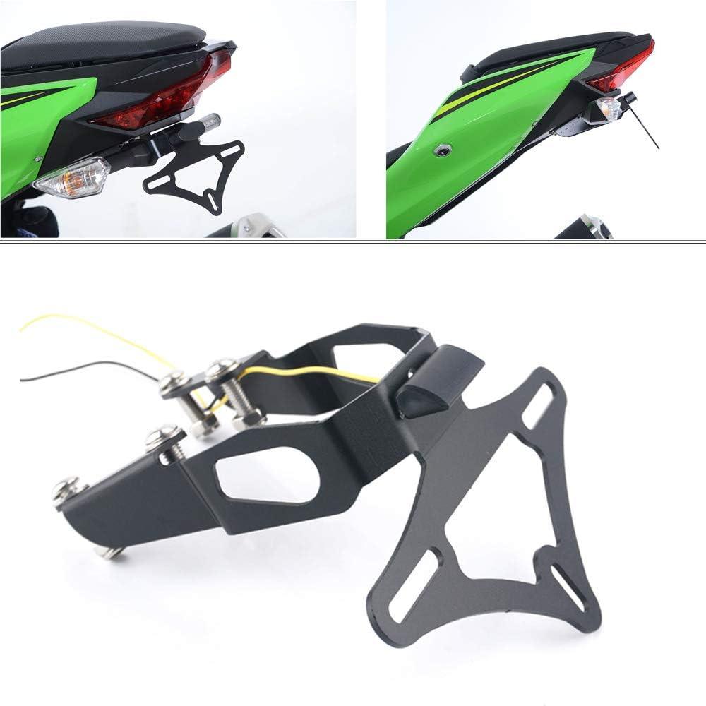 License Plate Holder Motorcycle Accessories Tail Tidy Fender Eliminator License Plate Bracket For Kawasaki Ninja250 2018-2020 Ninja400 2018-2019 Z400 2019-2020 Z250 2019