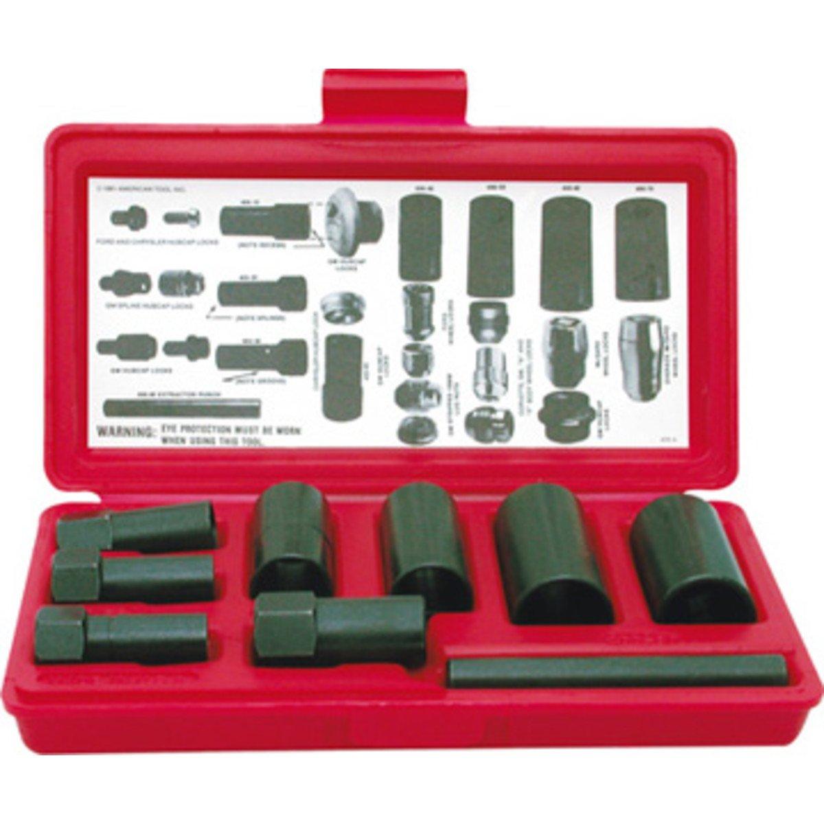 STEELMAN 75032 9-Piece Hubcap and Wheel Lock Removal Kit by Steelman
