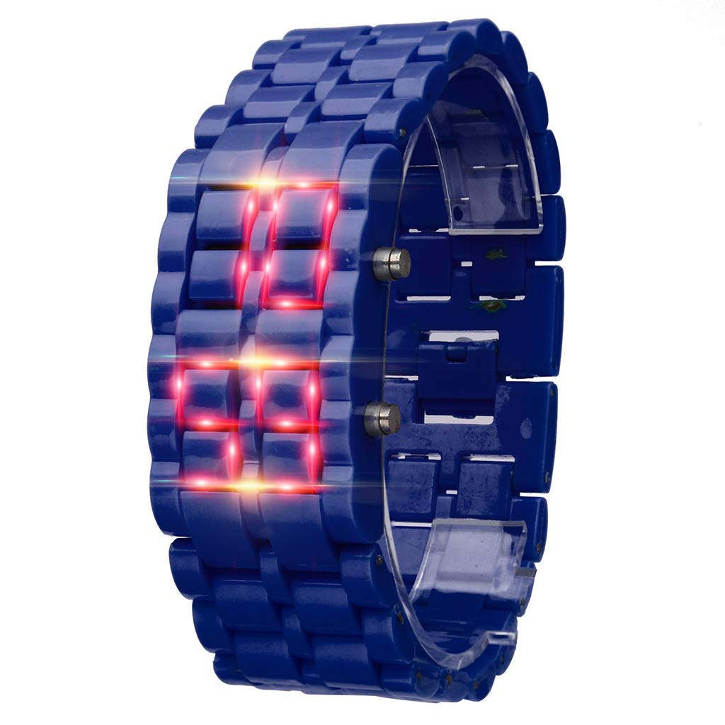 SMALLE ◕‿◕ Digital Watches for Women Men, Women Simple Pixel Design Metal Bracelet Watch Led Digital Watches by SMALLE ◕‿◕ (Image #1)