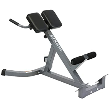 DTX Fitness Adjustable Height Hyper Extension Bench   Workout Back Muscles