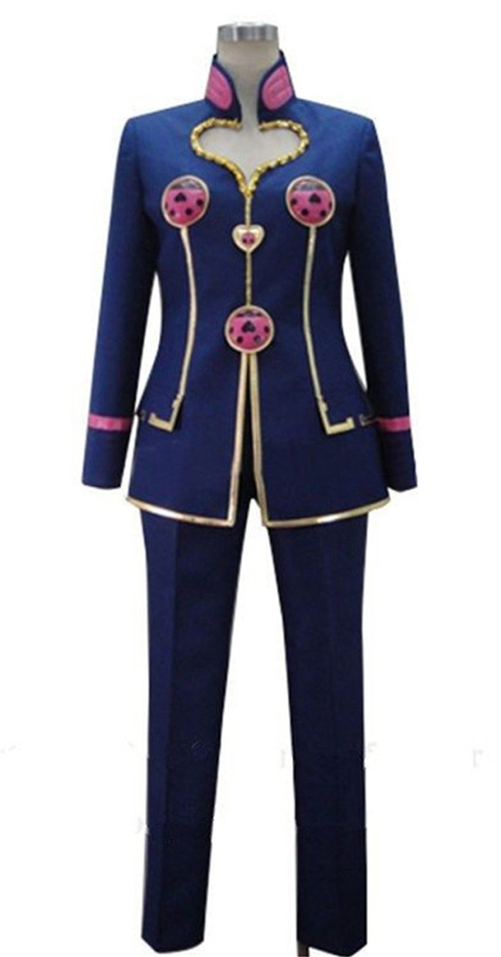 Vicwin-One Anime Giorno Uniform Outfit Cosplay Costume (Male M) Black