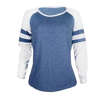 Luckycat Las Mujeres de Moda de Manga Larga de Empalme de la Blusa Tops Ropa Camiseta: Amazon.es: Ropa y accesorios