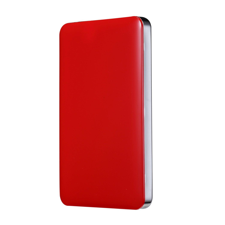 Bipra U3 2.5 inch USB 3.0 NTFS Portable External Hard Drive - Red (100GB)