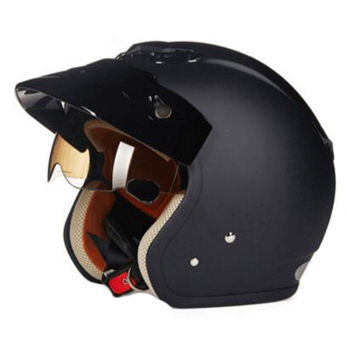 TZQ Safe Winter Warm Motorrad Helm Mann Helm Schutzbrille Halbe Open Lady Maske Helm