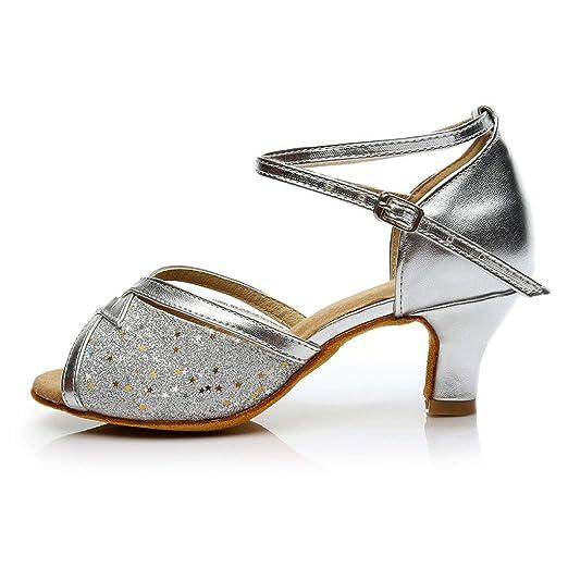 6f21a71a Correa Cruzada de tacón Alto Hebilla Zapatos de Baile Latino Sandalias  Zapatos de Baile Color de