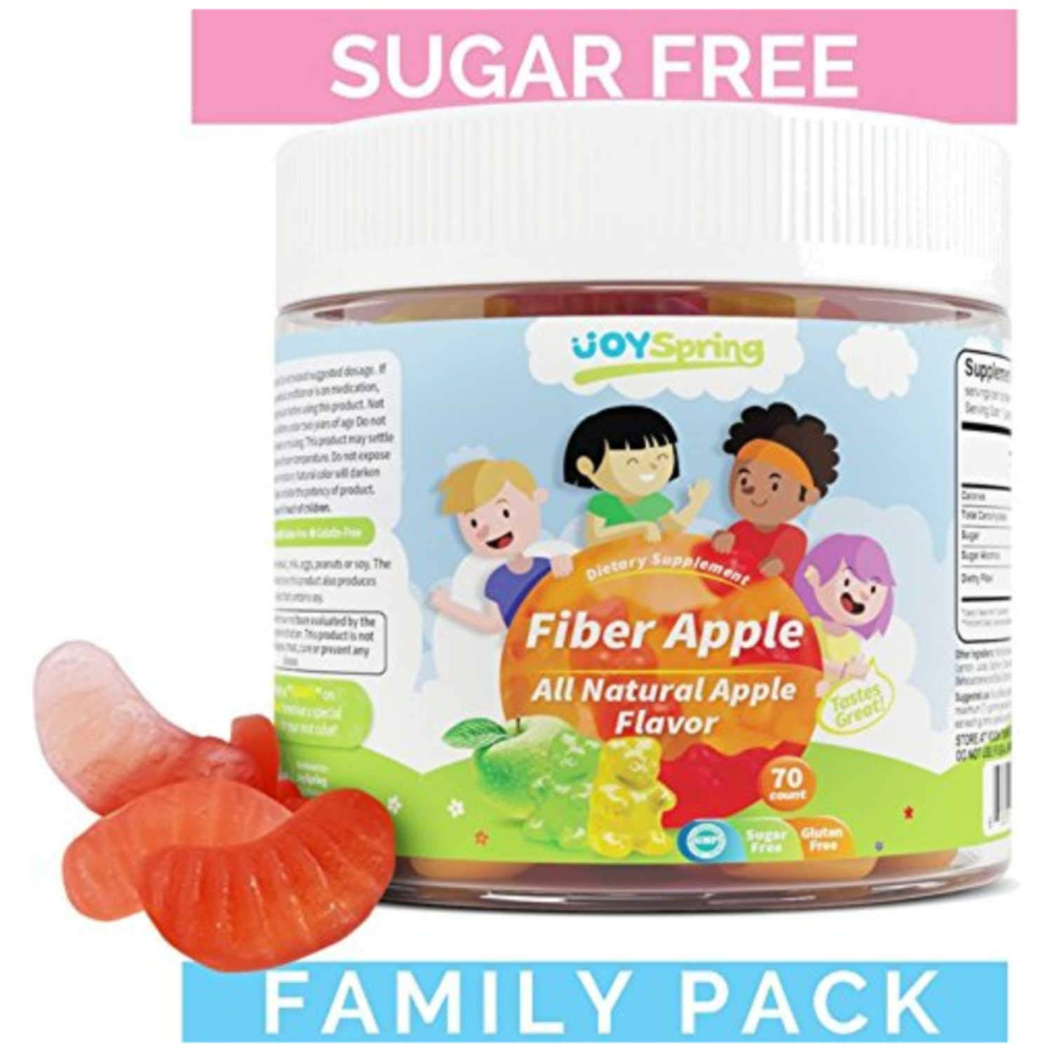 Fiber Gummies for Kids - Fruity Sugar Free Kids Fiber Gummy - Gluten Free Stool Softener for Toddlers - Family Pack