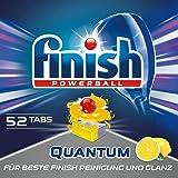 Finish 亮碟 Calgonit Quantum 洗碗机*洗涤块,柠檬,XXL 包装(1 x 52 块)