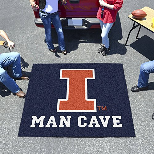 University of Illinois Man Cave Tailgater Rug 60
