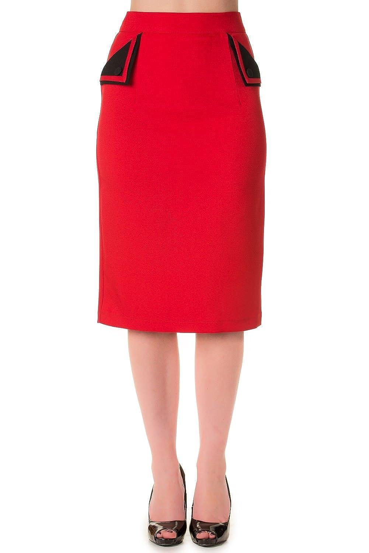 Banned Apparel - Women's Tori Red Rockabilly Skirt