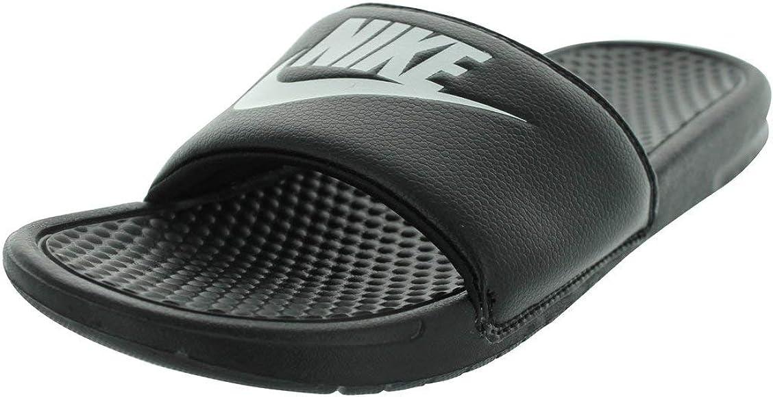 factory outlets best choice really comfortable Nike Men's Benassi Just Do It Slides, Black (Black/White), 6 UK ...